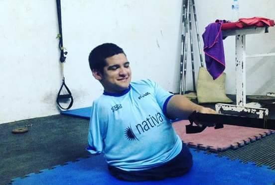 Maximiliano Matto, con la mente puesta en los torneos de este año y entrenando duro