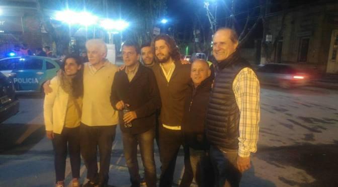 Sergio Massa, en una visita inesperada y fugaz estuvo en Marcos Paz, en la Fiesta del Jamón, junto a candidatos