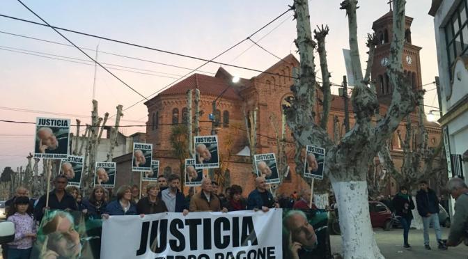 Multitudinaria marcha para exigir justicia por el asesinato de Pedro Ragone