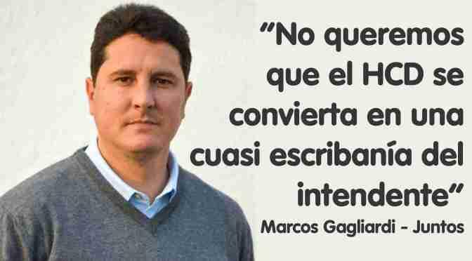"""Marcos Gagliardi, candidato de Juntos: """"Se inauguraron varios  parques industriales antes de las elecciones, pero no hay ninguno"""""""