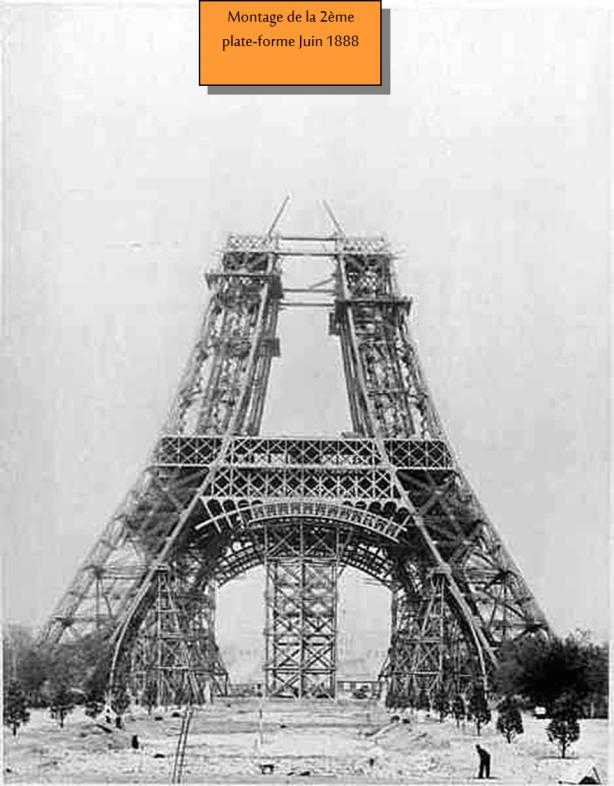 Torre Eiffel Construção - Montagem da 2a. plataforma