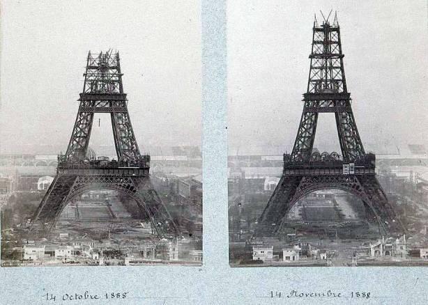 Torre Eiffel Construção - outubro e novembro 1888