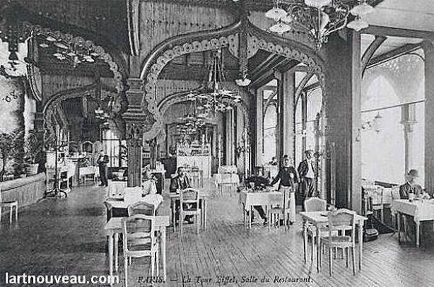 Torre Eiffel Construção - Restaurante no 1o. estágio