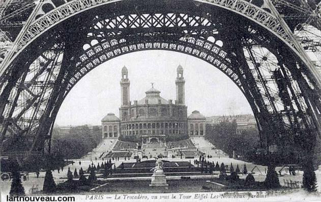 Torre Eiffel Construção - O Trocadero