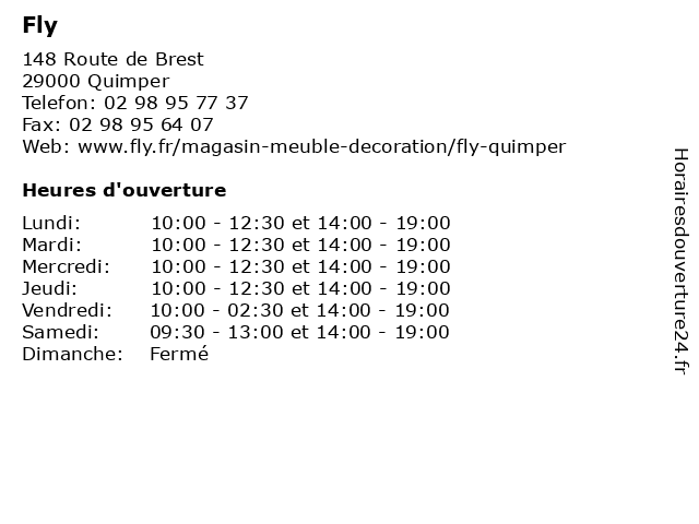 ᐅ fly horaires d ouverture 148