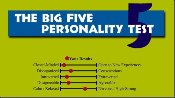 big 5 personality test