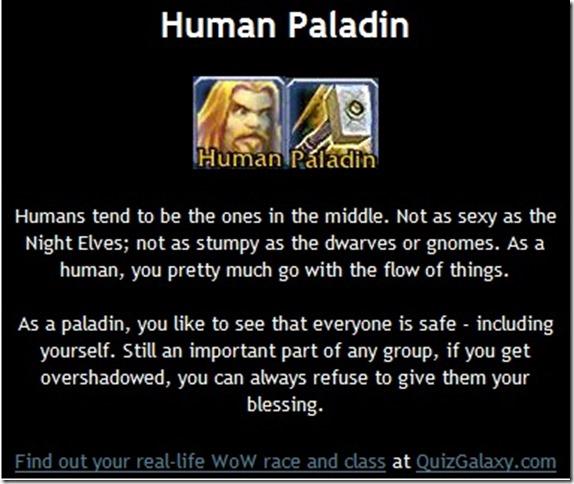 human paladin