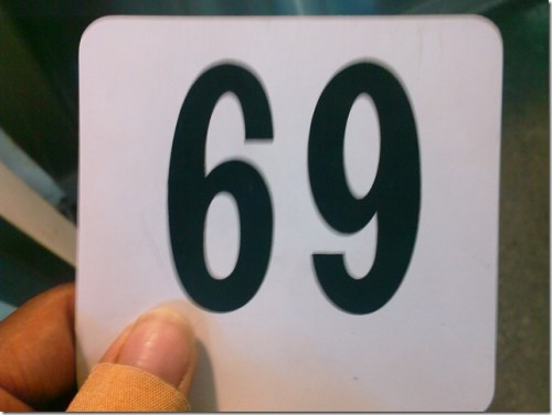 69 sign