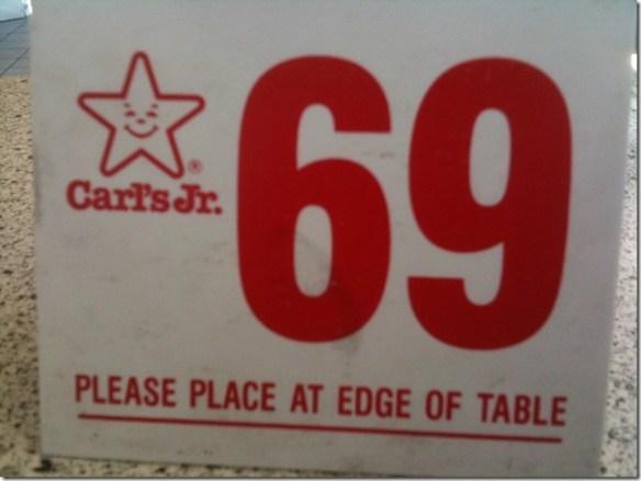 Carls jr 69