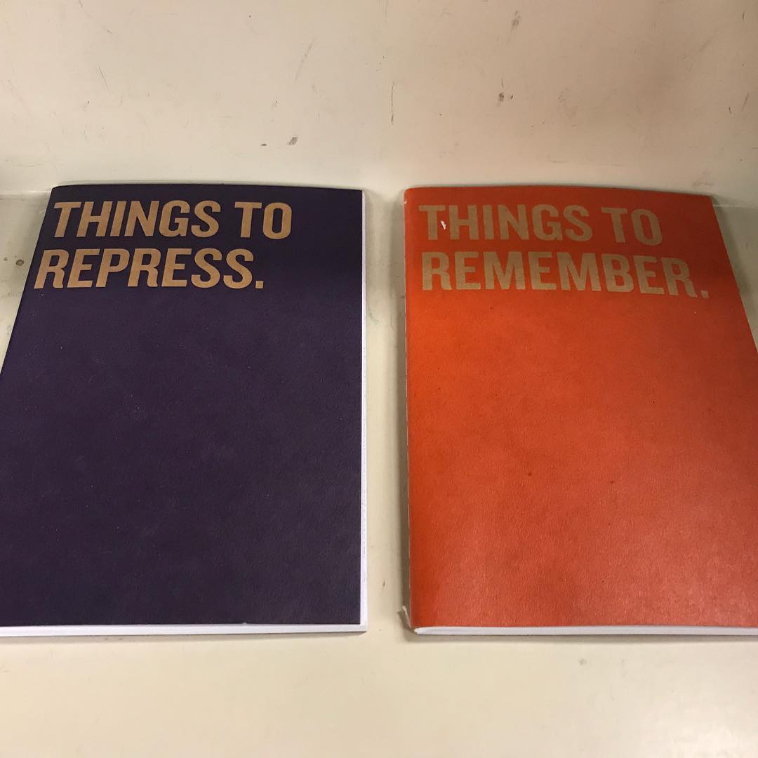 Both of these notebooks are too small for all the things I need to repress/remember.