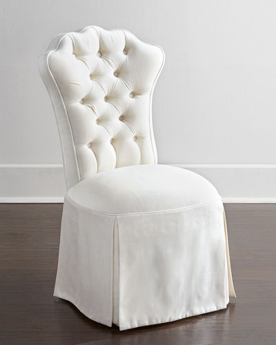 white tufted chairs 2 person recliner furniture horchow com quick look prodselect checkbox allison vanity chair