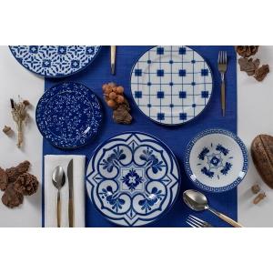 Porland Ege Mavi 32 Parça 6 Kişilik Yemek Takımı Tabaklar