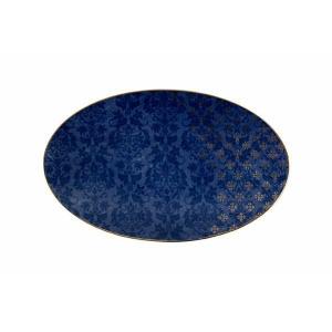 Porland Evoke Desen 2 Mavi Kayık Tabak 32 Cm Kare Tabaklar