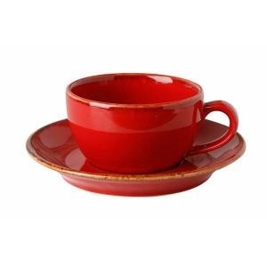 Porland Seasons Kırmızı Tabaklı Çay Fincanı 207 Cc Bardaklar