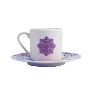 Porland Tiles Desen 3 Tabaklı Kahve Fincanı 90 Cc Bardaklar