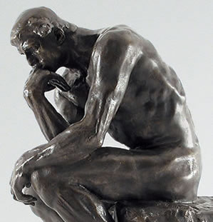 creative, leadership, rodin, the thinker, thinking, ideas