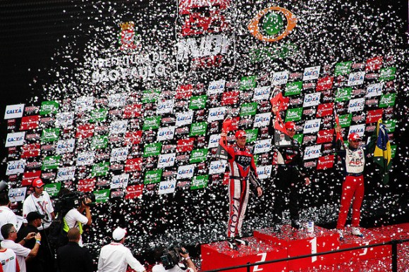 winning podium