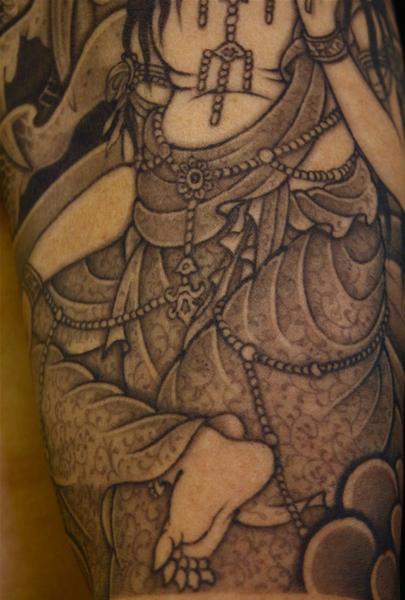 刺青作品「騎龍観音」「第六天魔王と天女」|刺青「彫あい」日本伝統刺青