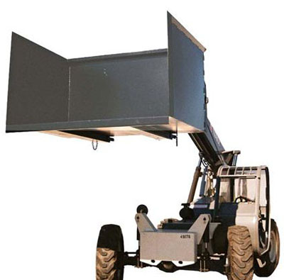 Telehandler and Forklift Trash Hopper
