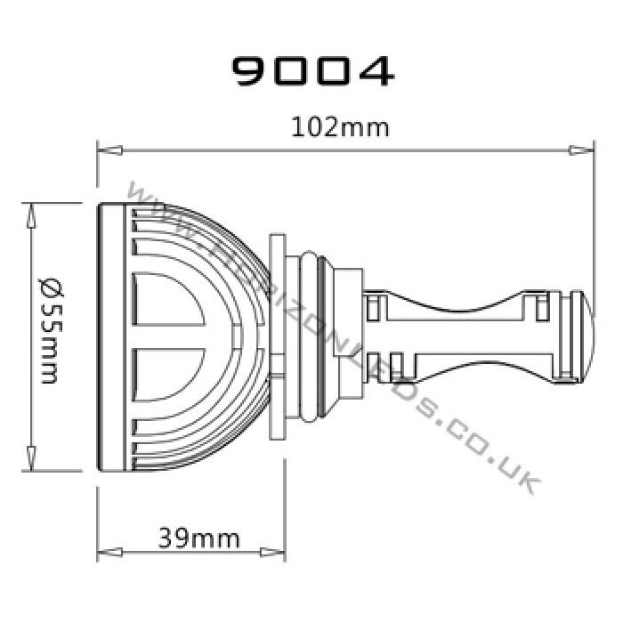 1ST GENERATION : HB1/9004 (Hi/Lo) CREE Headlight LED Kit