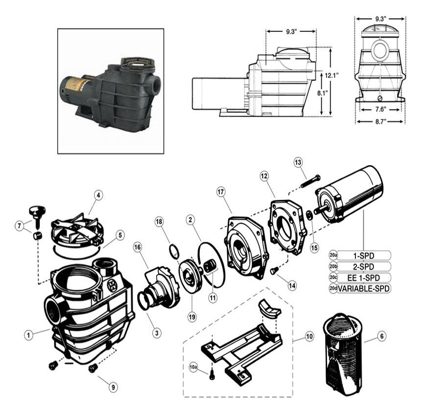 Hayward Super II SP 3000 Pump Series