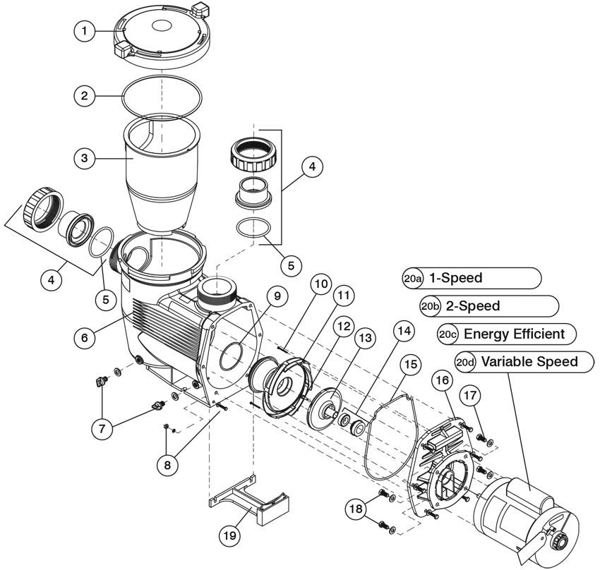 Jandy Epump U2122 Jep Variable Speed Pump Parts