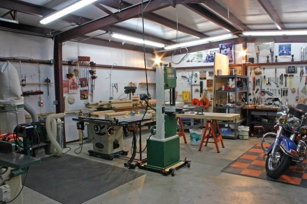 medium resolution of work shop includes woodshop and harley corner