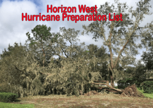 Horizon West Hurricane Preparation List