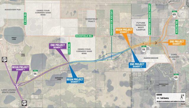 SR 516 Location Map - Lake Orange Connector Expressway