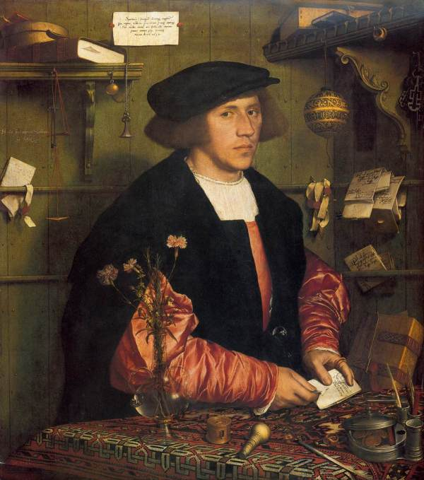 Hans Holbein the Younger Portrait of the Merchant Georg Gisze532