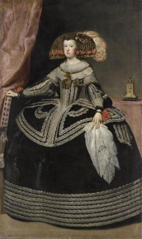 La reine Marie-Anne d'Autriche 17 eme siecle