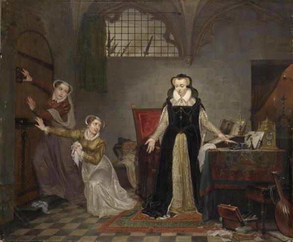 Marie Stuart conduite au suplice Brée Matthieu Ignace van 1773-1839 peintre