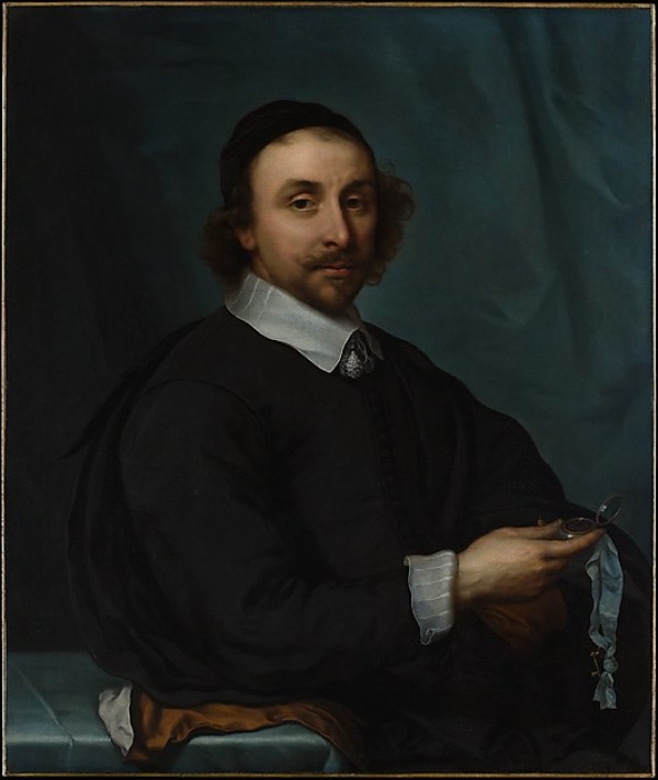 Portrait of a Man with a Watch 1657 cornelius jonson