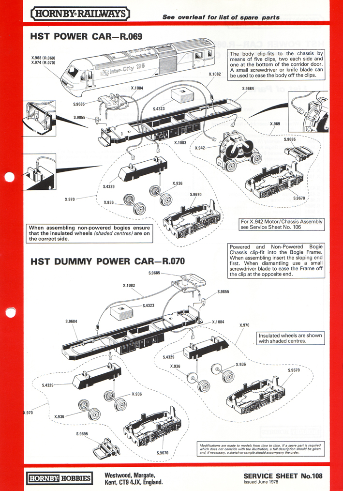 car wiring diagrams uk electrical socket diagram hornby railways collector guide - service sheet 108