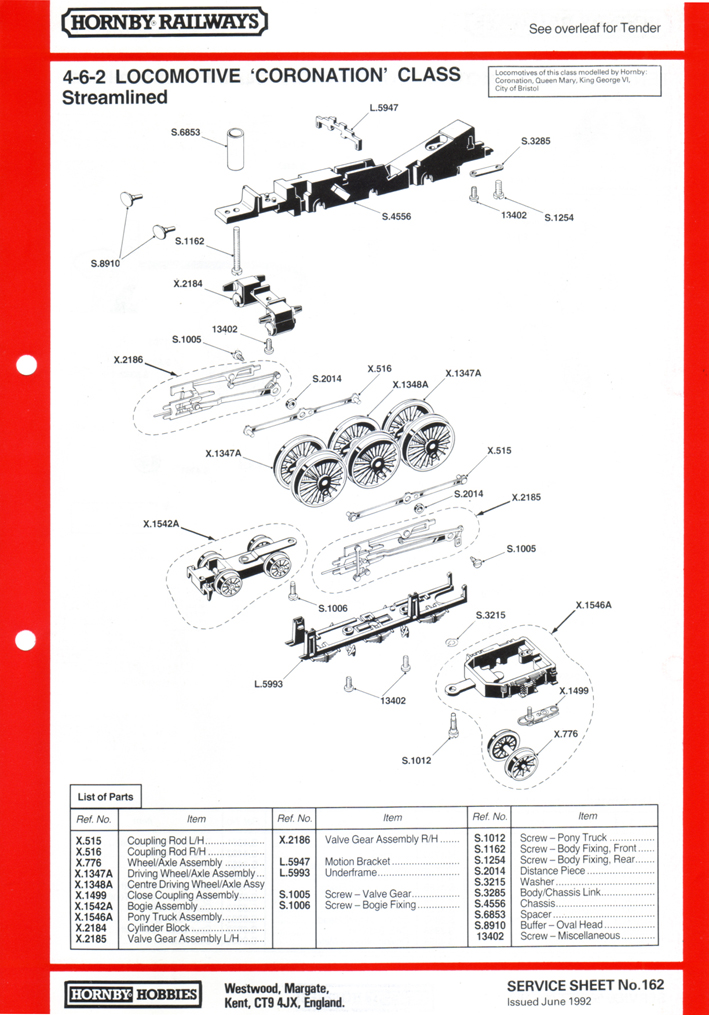 International Wiring Diagram Hornby Railways Collector Guide Service Sheet 162