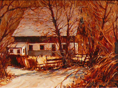 Phyllis Horne, Almost Winter, without frame 9x12, oil, WEB