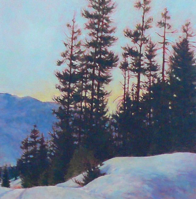 Phyllis Horne, Mountain High, 24x24, oil