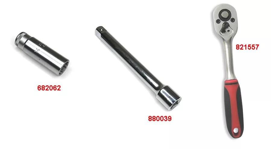 Clé de bougie d'allumage 14mm DOHC pour BMW R1200R 2011