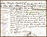 Juan Vicente falleció en Monzón de Campos en 1846. Archivo Parroquial de dicho pueblo palentino.
