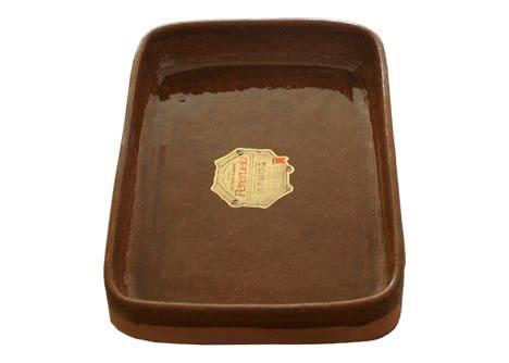 asador rectangular de barro