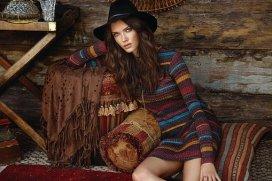 female model wearing hat