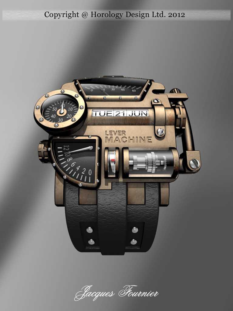 Steampunk Concept Watch Design 2017 Jacques Fournier