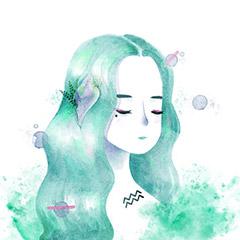 Female Aquarius Drawings