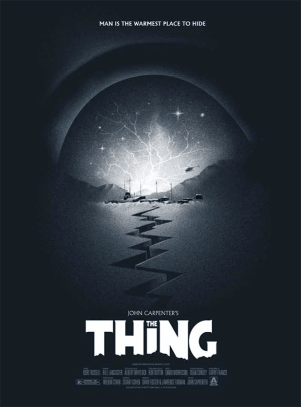 The Thing, Arrow Video affiche dépliante Blu-ray, 2017