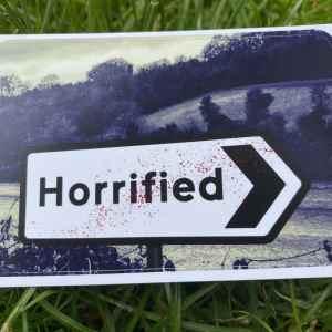 Horrified log sticker image