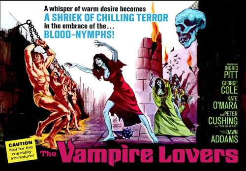 The Vampire Lovers quad poster