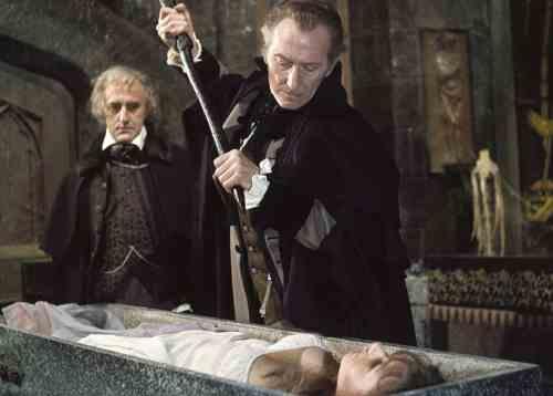 Peter Cushing in The Vampire Lovers