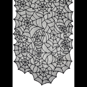 New Gothic Witch Plastic Spider Web Cobweb Door Table Cover Cloth Black White Print Horror
