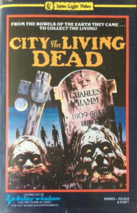 City of the Living Dead Inter Light VHS Video