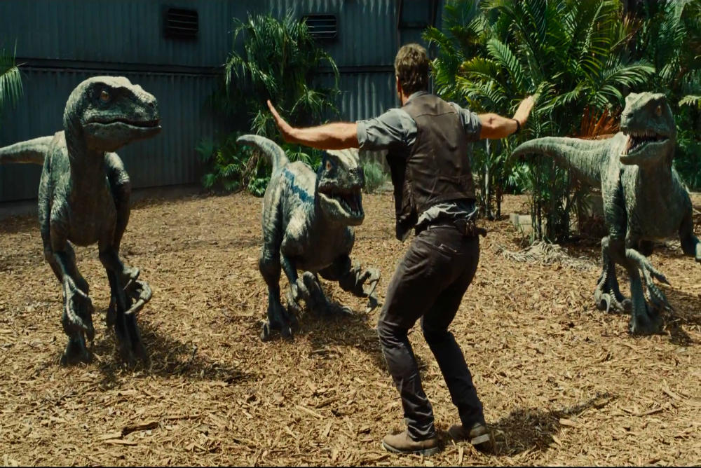 4. Jurassic World raptors